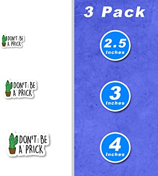 Don\u2019T Be A Prick Sticker Quotes Sticker Sayings Cactus Stickers Laptop Stickers Waterbottle Sticker Aesthetic Stickers Laptop Decals