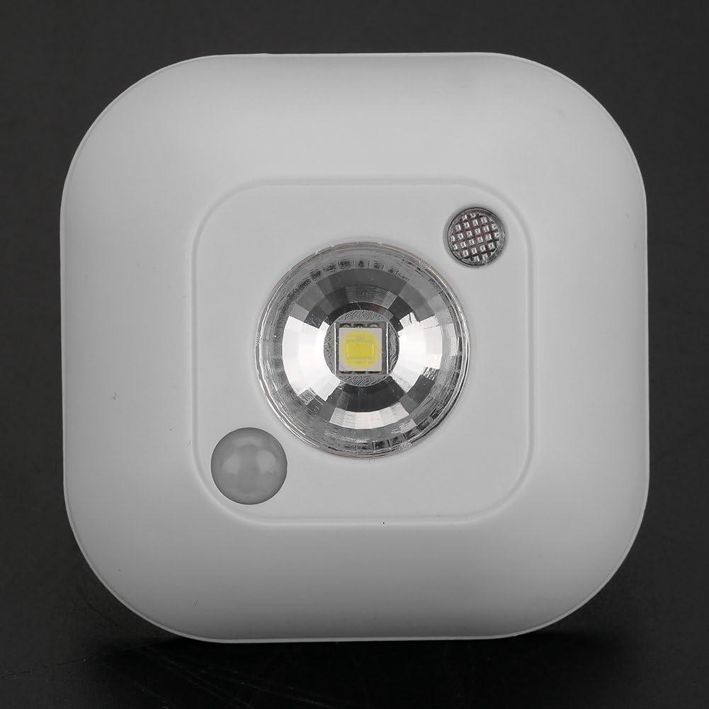 White Fdit Sensore Movimento Luce Notturna LED Mini infrarossi Senza Fili Luce Notturna Alimentato a Batteria Armadio Corridoio Luci Lampada