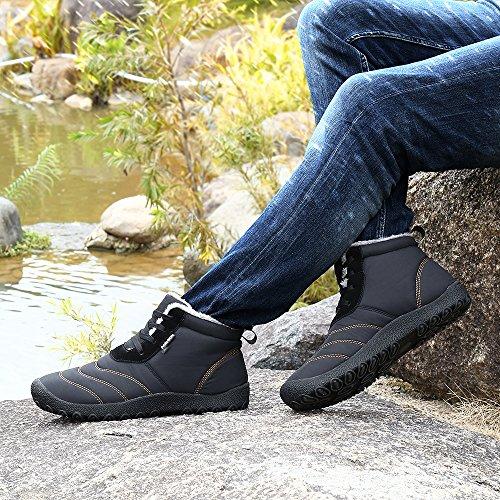 Air Plat Pour Homme Bottes Antidérapant Lacet Boots En Bottines Talon Hiver Plein Chaud Sport Mode Noir Courtes Chaussures Neige Femme wPnWwUqCR