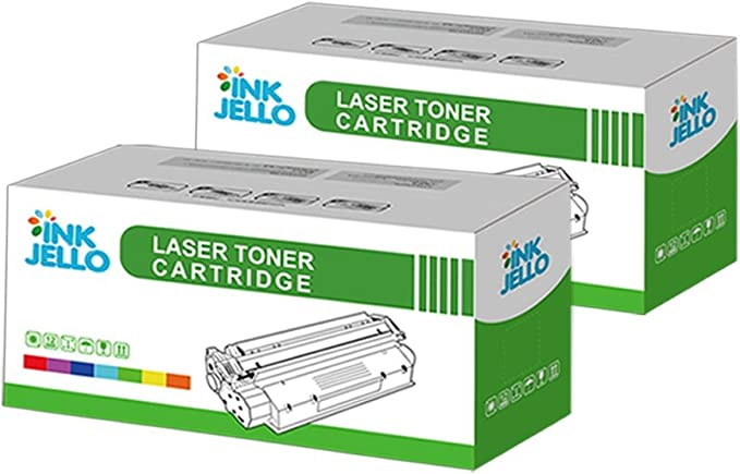 Negro, Doble-Pack InkJello Compatible Toner Cartucho Reemplazo por Brother DCP-7055 DCP-7055W HL-2130 HL-2132 HL-2135W TN2010