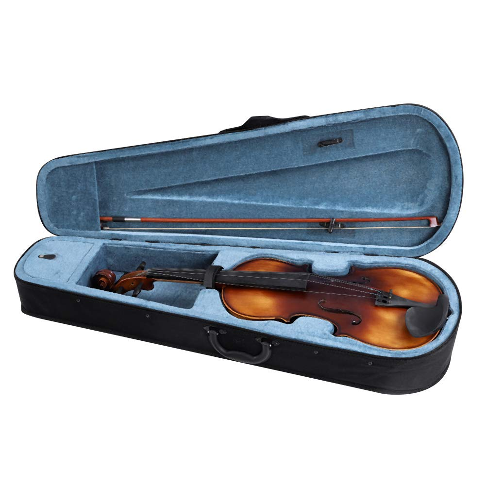 16inch Viola, Handcrafted Spruce Viola Solid Wood Acoustic Viola with Case, Bow, Bridge and Rosin Accessory for Beginners by Zerone (Image #7)