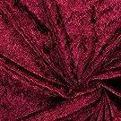 Fabulous Fabrics Pannesamt Bordeauxrot – Weicher SAMT Stoff zum Nähen von Kleider, Oberteile, Tücher und Tischdecke - Pannesamt Dekostoff & Bekleidungsstof- Meterware ab 0,5m
