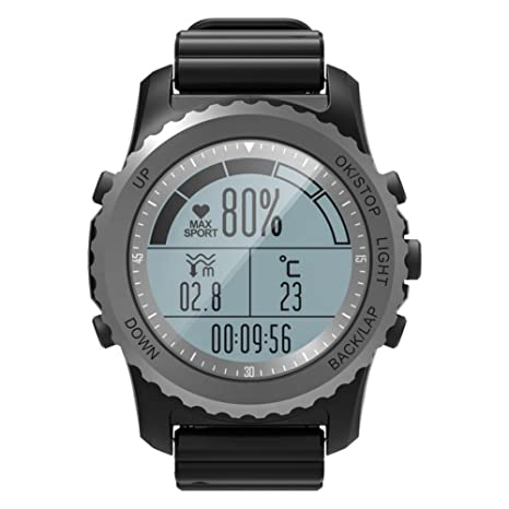 OOLIFENG Reloj Inteligente Incorporado GPS Pulsómetros Actividad Tracker Profesional Modos Deportivos Impermeable Digital Relojes Deportivos para