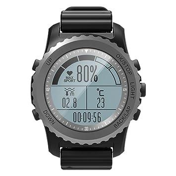 OOLIFENG GPS Montre Extérieure Aventurier Montres Comprend Boussole/Baromètre/Thermomètre Fonctions pour Triathlon Escalade