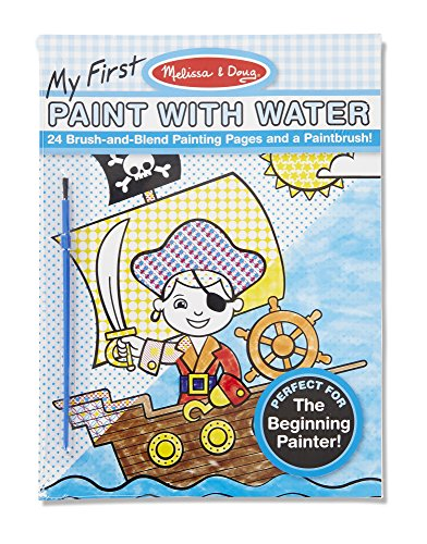Melissa & Doug My First Paint with Water Kids' Art Pad With Paintbrush - Pirates, Space, Construction, and (Pretty Little Pirate Baby Costume)
