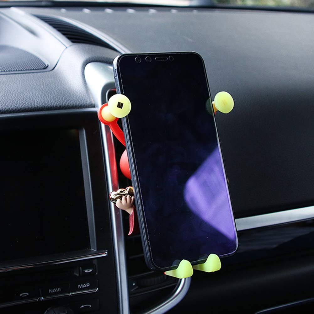 Universal Car Air Vent Cell Phone Holder Bracket Portable God of Wealth Mounts Stands for Mobile Phone GPS 1 TTShonf Creative Car Phone Mount Car Electronics & Accessories
