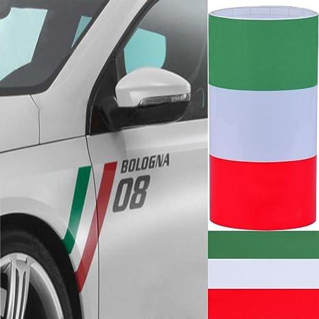 Accesorionline Vinilo pegatina bandera Italia coche moto auto adhesivo sticker 100x15cm: Amazon.es: Juguetes y juegos