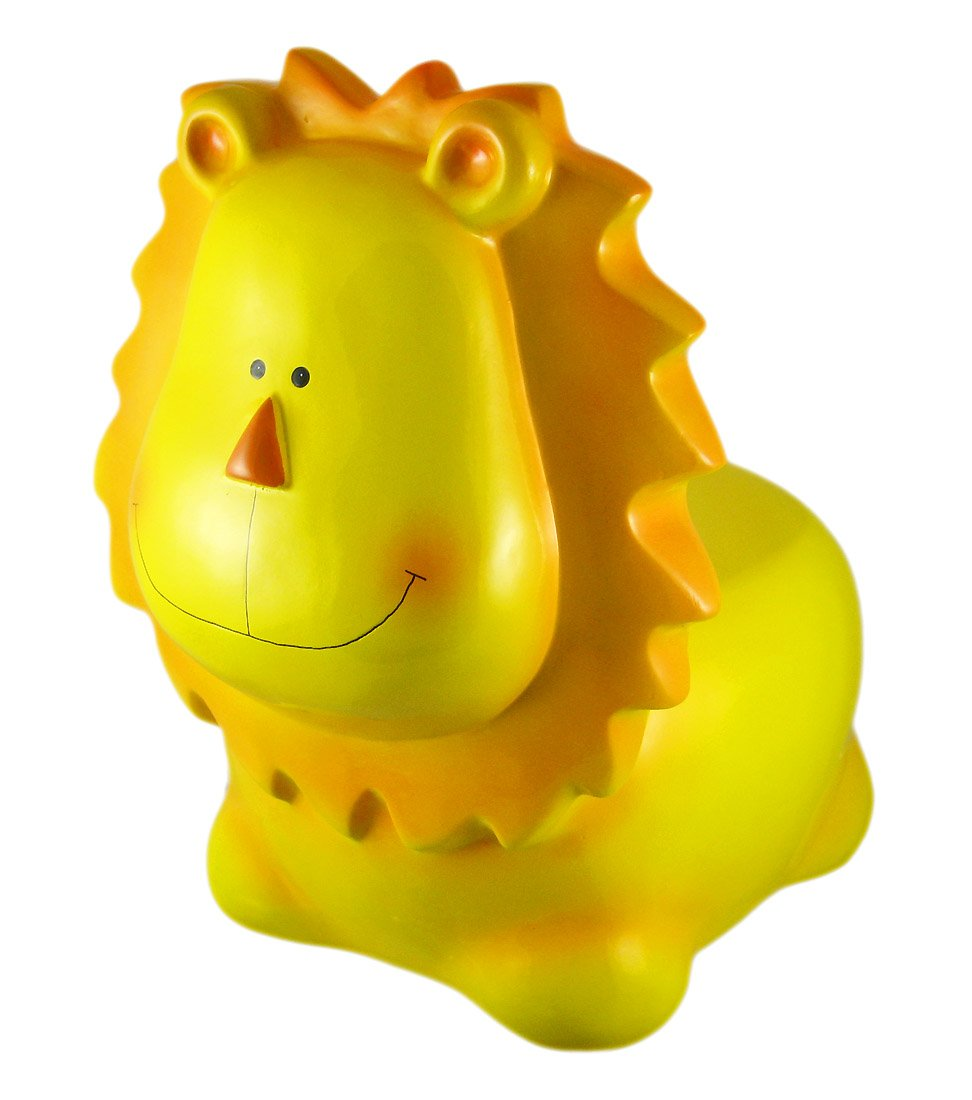 Things2Die4 Plastic Childrens Stools Adorable Plastic Lion Childs Chair Stool 16 X 16 X 12 Inches Yellow