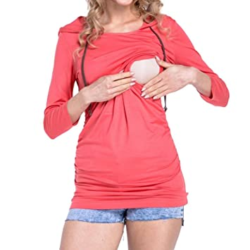 Amazon Maternity Nursing Tops Womens Baby Bump Tee Long Sleeve