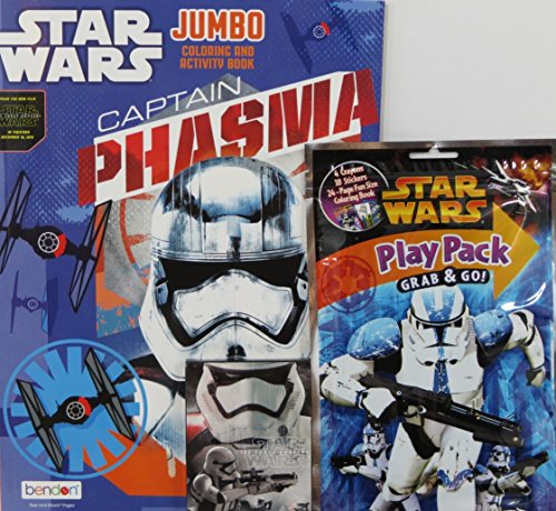 Star Wars Phasma Jumbo Coloring & Activity Book, Play Pack, and Crayons - Original Boba Fett Costume