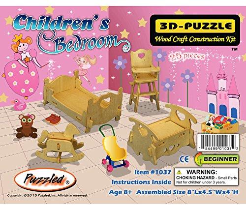 Puzzled Children's Bedroom 3D Woodcraft Construction Kit