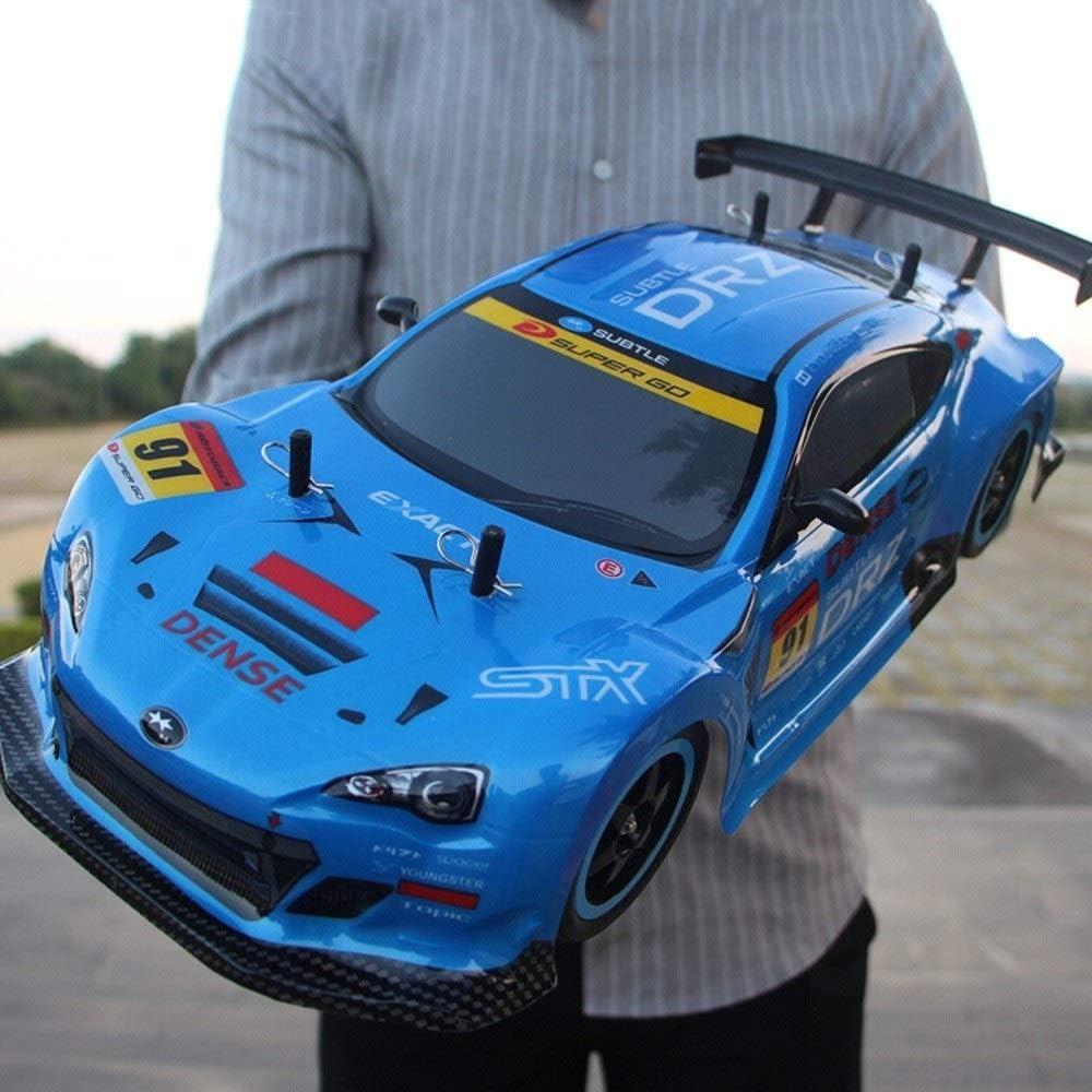 Poooc Recargable 40KM / H 4WD Deportes para adultos profesional 2.4 GHz de alta velocidad RC Radio Control remoto Coche de carreras Drift Coche Control de tracción en las cuatro ruedas Carga Niño Jugu
