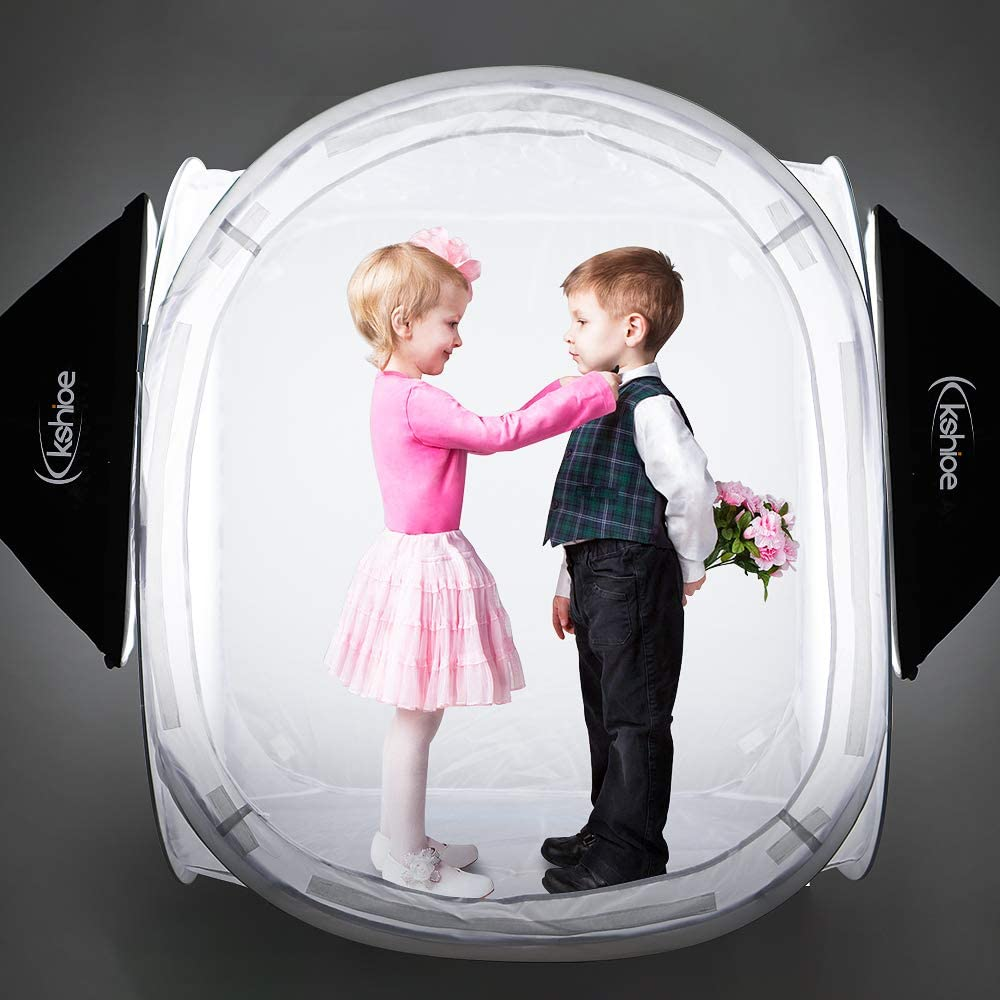Black White Red Blue 40inx40in Kshioe Photo Studio Shooting Tent Light Cube Diffusion Soft Box Kit with 4 Colors Backdrops
