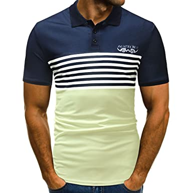 ASHOP - Camisetas Hombre - Summer T-Shirt - Diseño de Botones ...