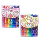 Kitty Sanrio Hello 16 Colors Twist up Crayon Set : Sweet 1pc (Random)