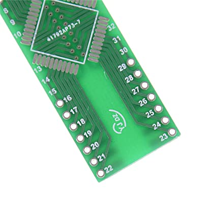 5 PCS QFP 44 Pin Pitch 0.8 mm to DIP 44 2.54 mm Adapter PCB Board Converter/_US