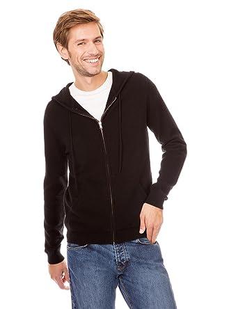 détaillant en ligne 7889b 42ad6 Monoprix HOMME - Cardigan avec zip et capuche en cachemire ...