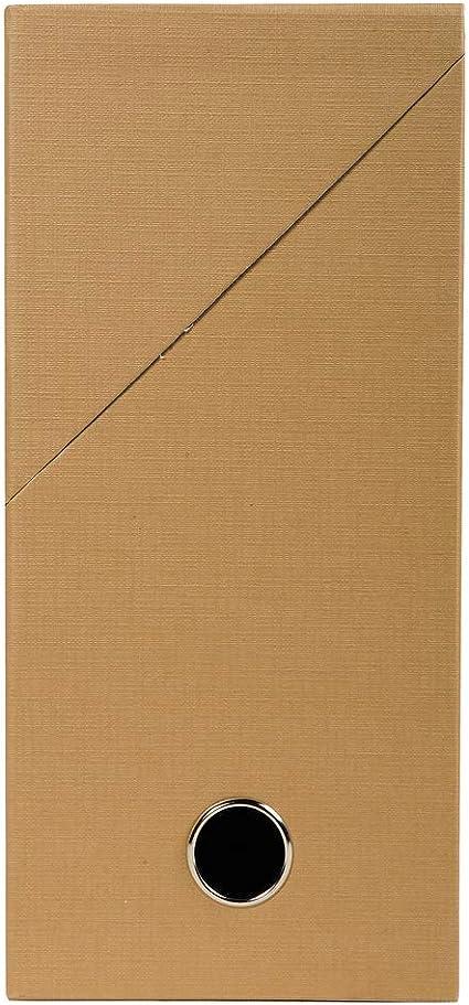 Caja archivadora de lona de Exacompta, color marrón tabaco Dos de 9 cm: Amazon.es: Oficina y papelería