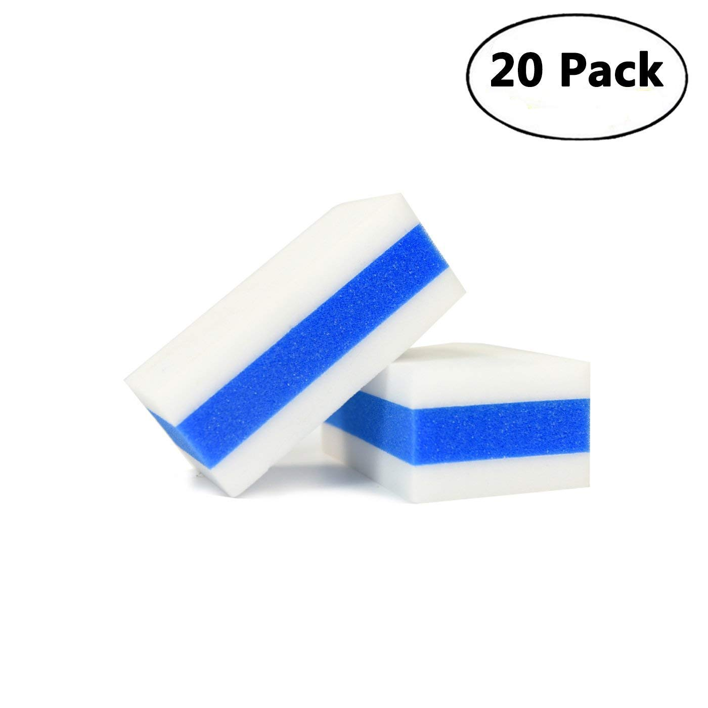 CARCAREZ Car Magic Eraser Auto Cleaning Applicator Pad Have Three Layers, Pack of 20