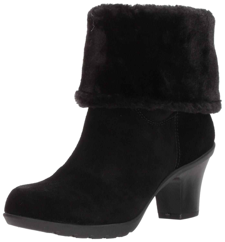 Anne Klein Women's Heward Suede Fashion Boot B076M4G22W 5.5 B(M) US|Black Suede