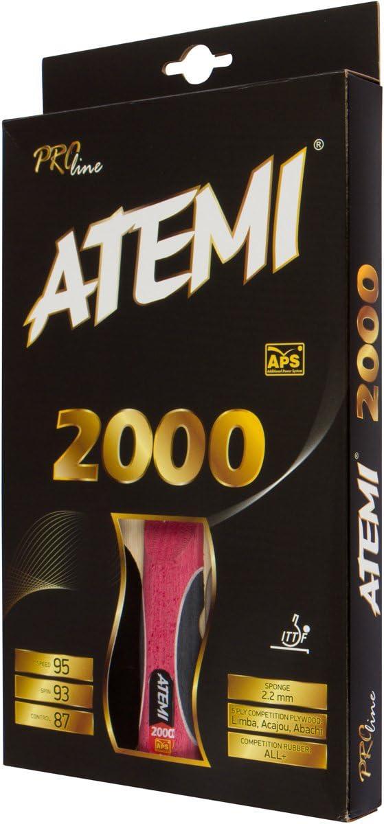 Atemi Palas De Ping Pong Pro Line 2000 - Raqueta De Tenis De Mesa Homologadas por La ITTF - Pala De Tenis De Mesa Ideal Tanto para Principiantes como Jugadores Más Avanzados