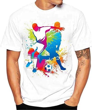 FNKDOR Jerseys de la Copa del Mundo, Camisa de Manga Corta con Estampado de fútbol de Hombres Camiseta de Manga Larga (XL, Blanco): Amazon.es: Ropa y accesorios