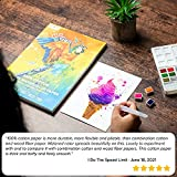GenCrafts 100% Cotton Watercolor Paper Pad - A4