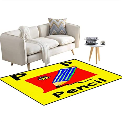 Amazon.com: Kids Carpet Playmat Rug P is for Pencil Learn ...