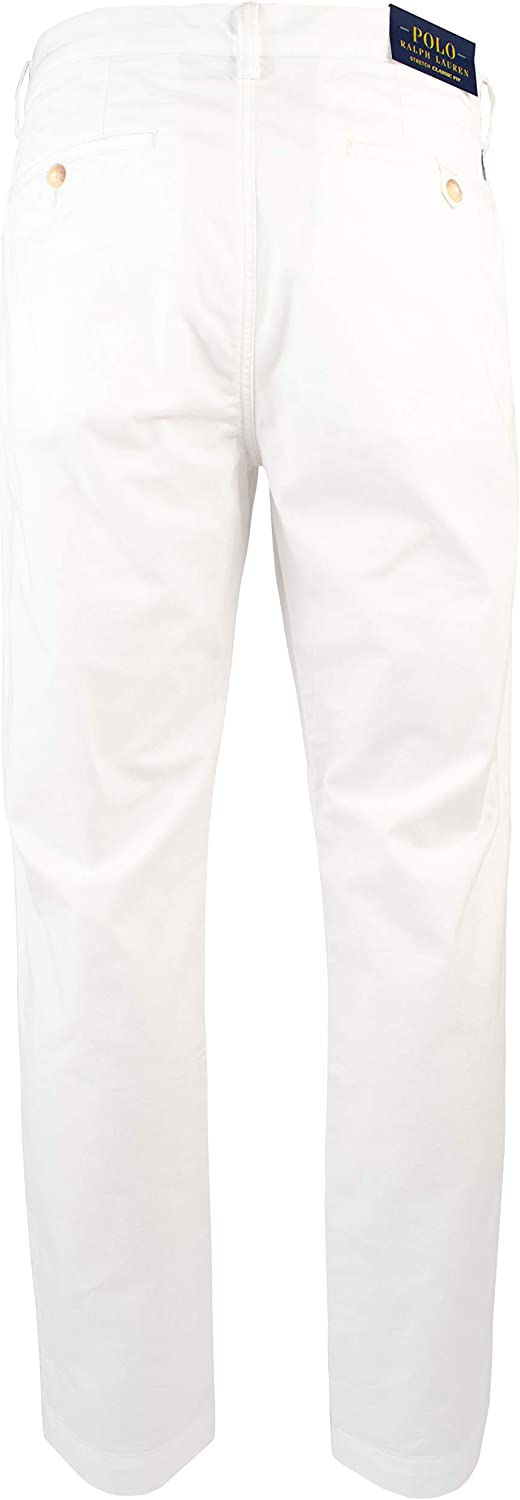 Polo Ralph Lauren Mens Big /& Tall Straight-Fit Stretch Chino Pants-W-48WX32L White