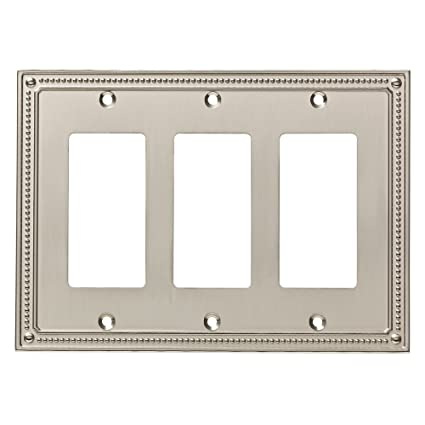 Franklin Brass W35067-SN-C Classic Beaded Triple Decorator Wall Plate/Switch Plate  sc 1 st  Amazon.com & Franklin Brass W35067-SN-C Classic Beaded Triple Decorator Wall ...