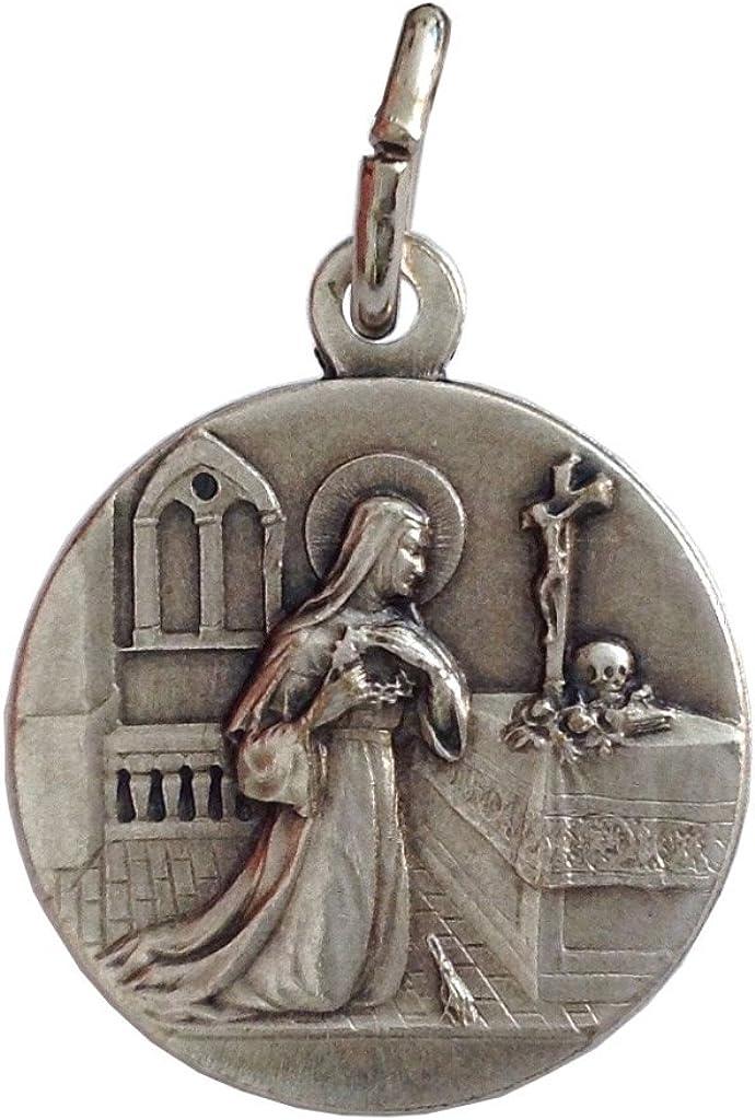 M/édaille de Sainte Rita de Cascia avec Cha/îne Les m/édailles des Saints Patrons