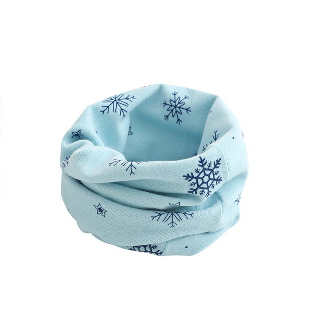 Molyveva Kid Scarf Snowflake Pattern O-ring Scarf Neck Warmer Woolen Neckerchief Old Tree Store