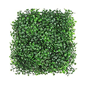 "ULAND Artificial Hedges Panels, Boxwood Greenery Ivy Privacy Fence Screening, Home Garden Outdoor Wall Decoration, 20""x20"" per pc 103"