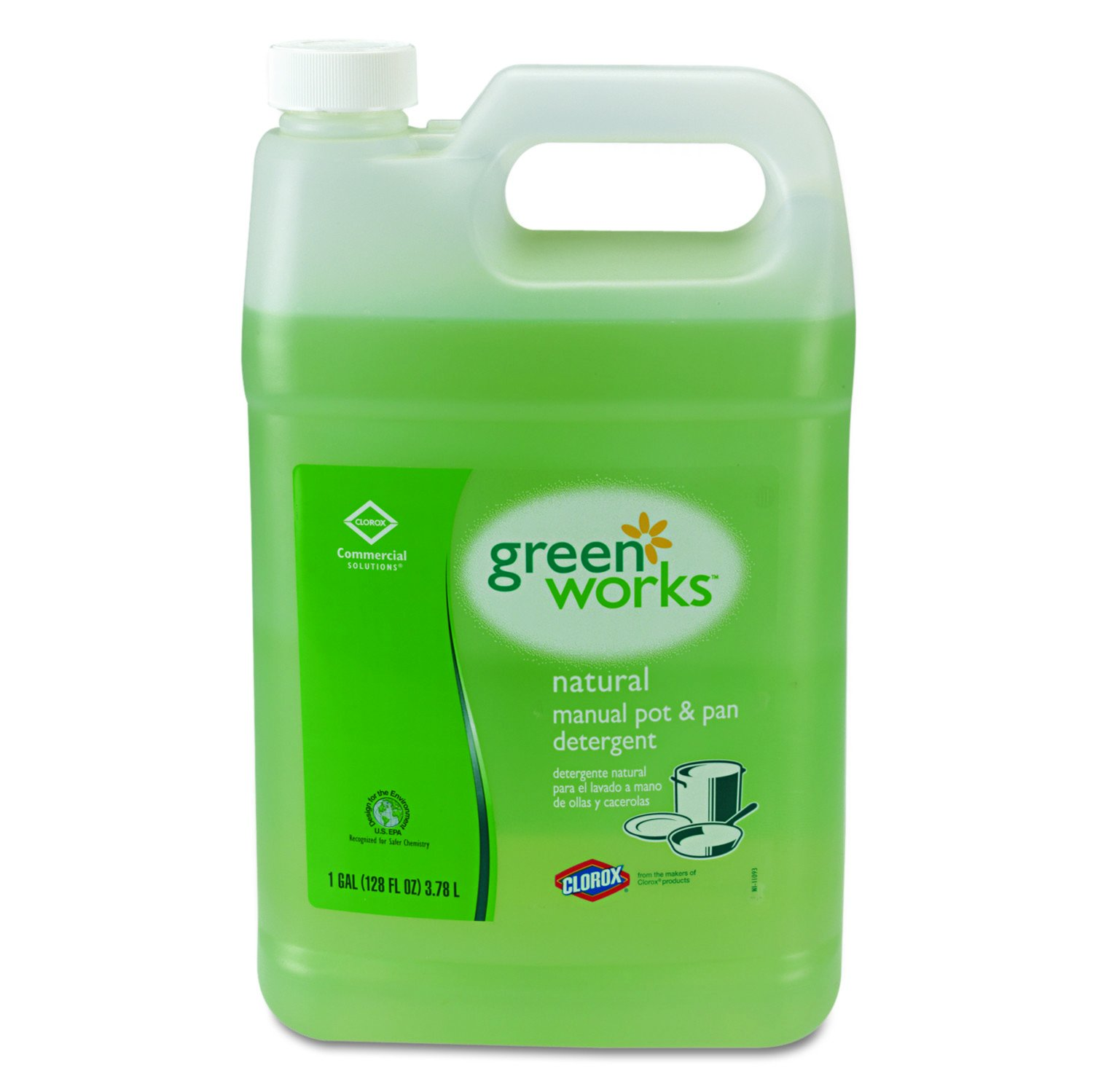 Green Works 30388CT Manual Pot & Pan Dish Liquid, Original, 1gal Bottle (Case of 4)
