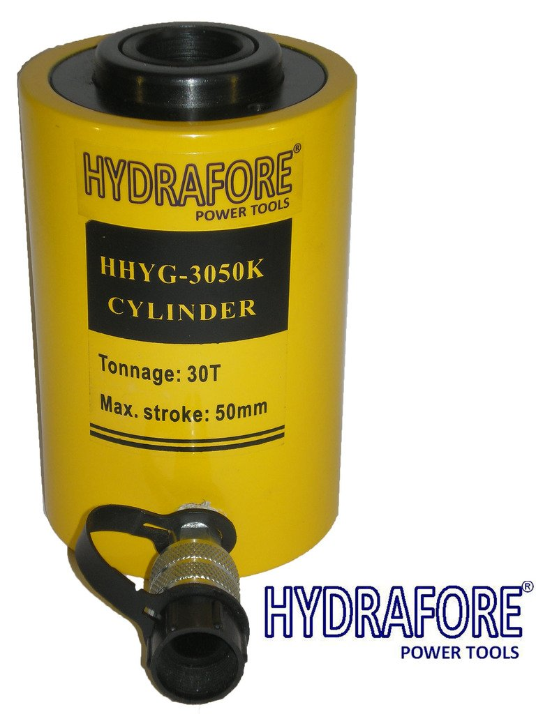 30 tons 2'' stroke Single acting Hollow Ram Hydraulic Cylinder Jack YG-3050K
