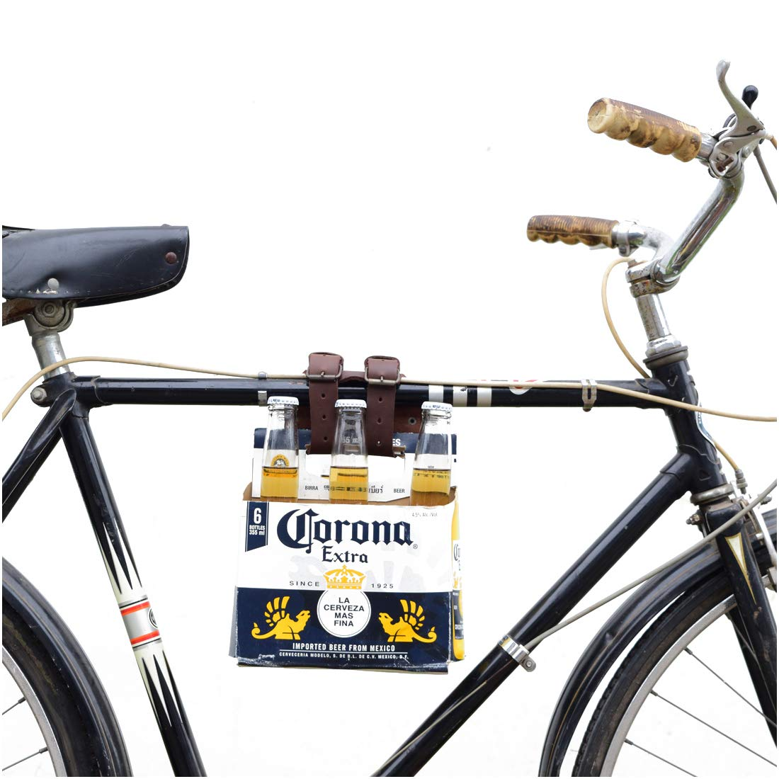 Biker Accessories Adjustable Straps Hide /& Drink Thick Leather Bicycle Frame Cinch Carrier Handmade Includes 101 Year Warranty :: Bourbon Brown Multipurpose Six Pack Holder
