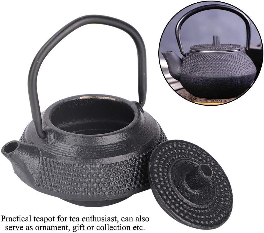 Cast Iron Tea Pot Mini Tea Kettle with Handle 10.6 Oz(300ml)Black Tea Kettle