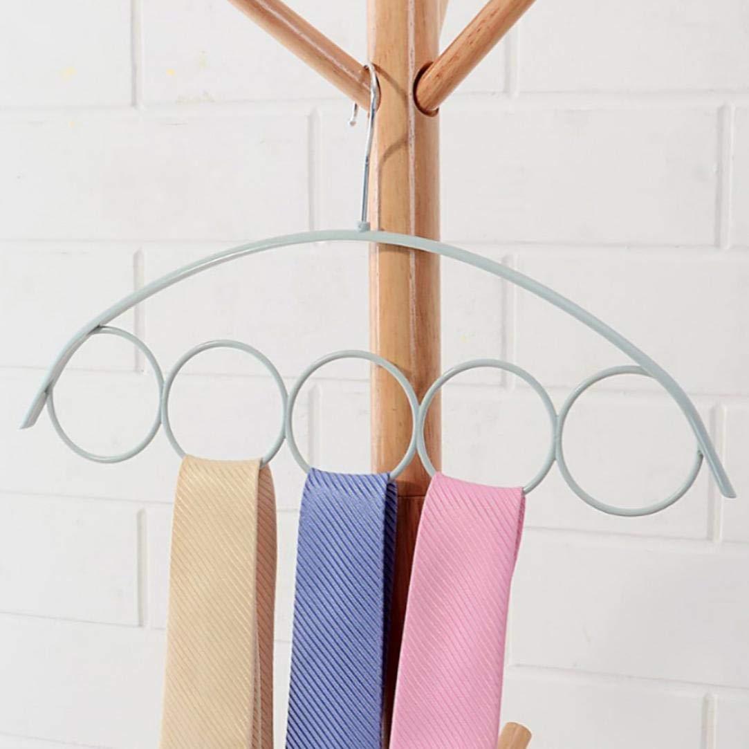 Vovomay Shawl Scarf Hanger, Belt Tie 5 Ring Rack Organizer Holder Hook Display Hanger (A)