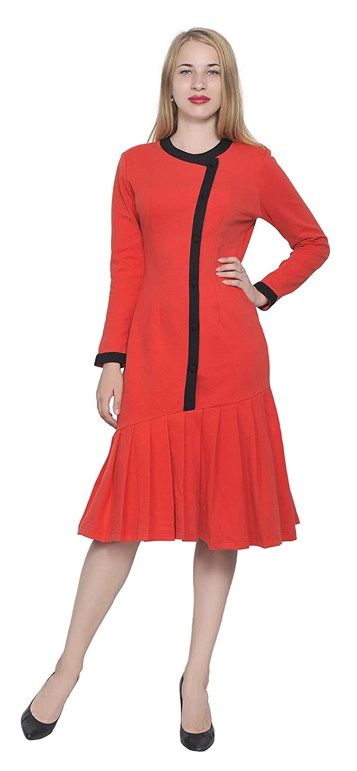Plus Size Vintage Dresses, Plus Size Retro Dresses Marycrafts Womens Drop Waist Midi Dress Retro Vintage Flapper 1920s $35.90 AT vintagedancer.com