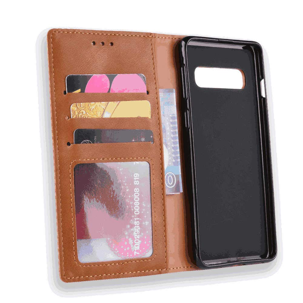 with Waterproof Pouch for Smart Phone Leather Flip Case for iPhone X Business Wallet Cover Compatible with iPhone X