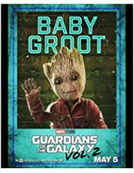 """Vin Diesel 8 inch x 10 inch Photograph Guardians of the Galaxy Fast & Furious xXx """"Baby Groot"""" Title Poster kn"""