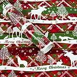Gotian 3Pcs Christmas Gift Present Wrapping Paper Roll Tree Santa Wrap Xmas Party Decorative (E)