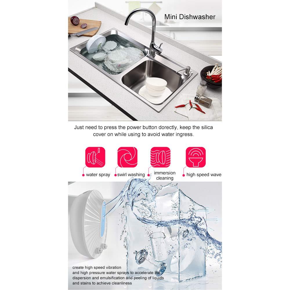 Walmeck- Mini lavavajillas portátil Carga por USB Lavavajillas ...