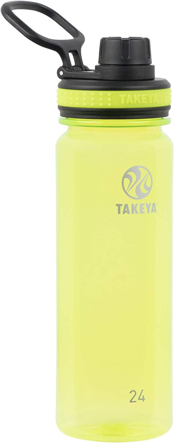 Takeya Tritan Sports Water Bottle with Spout Lid, 24 oz, Wild Lime