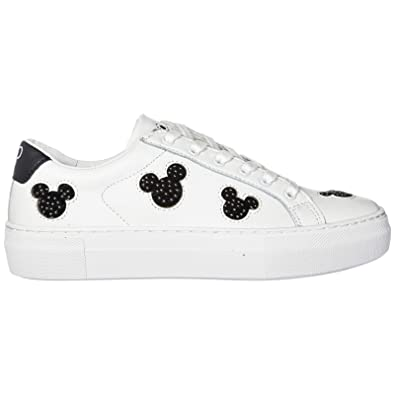 Moa Master of Arts Women s Shoes Leather Trainers Sneakers Disney Mickey  Mouse White UK Size 4 MD221  Amazon.co.uk  Shoes   Bags b6585c965bf