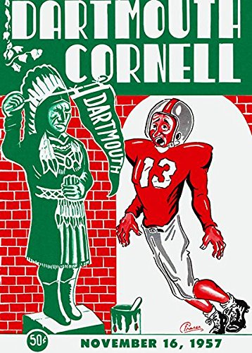 1957 Dartmouth vs Cornell Football Game - Program Cover Poster