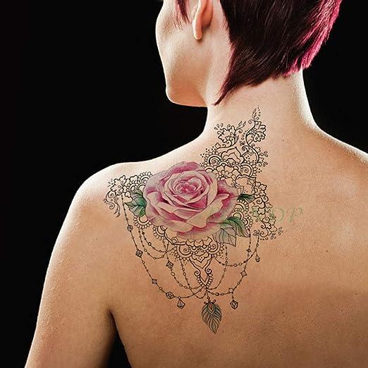 tzxdbh 3 Unids Impermeable Tatuaje Pegatina Floral Patrón de ...