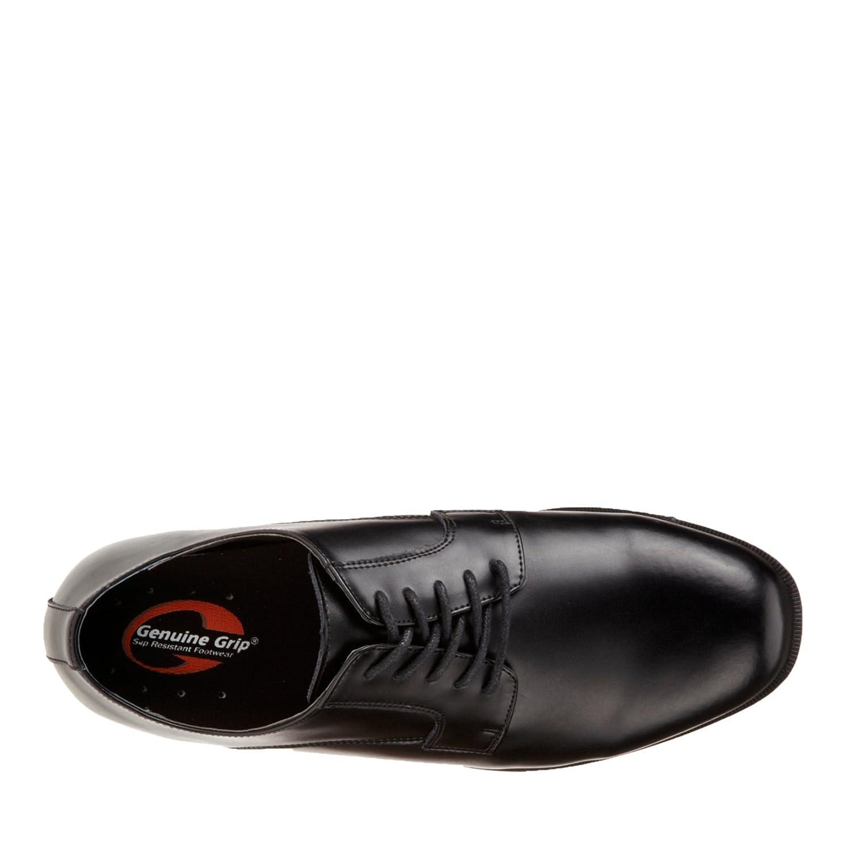 Genuine Grip Footwear Mens Slip-Resistant Oxford Dress,Black Leather,US 8.5 M