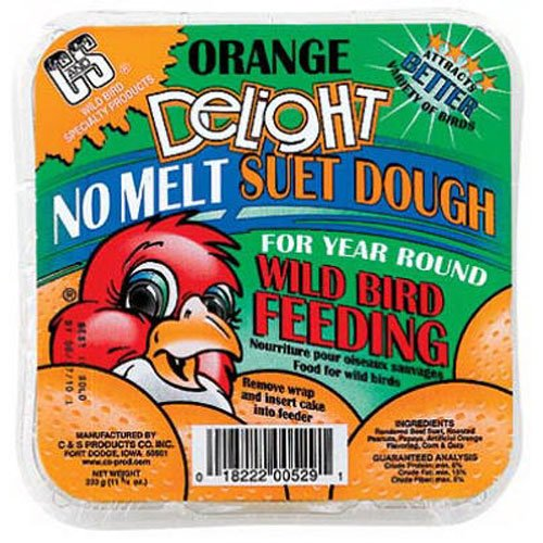 C & S 12529 Orange Delight Suet, 11.75-Ounce (Suet Orange Dough)