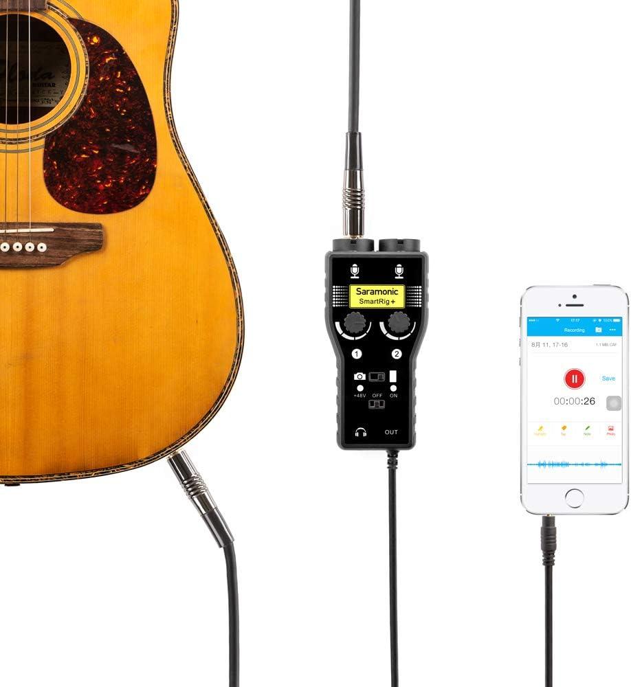 Interfaz de micrófono y guitarra de dos canales Saramonic ...